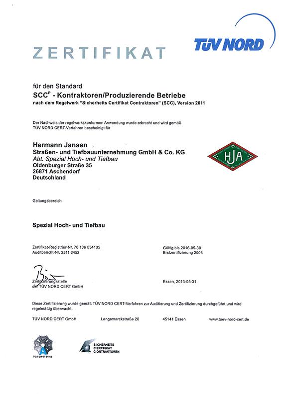 Hermann Jansen Aschendorf SCCP Zertifikat