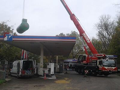Tankstellen- und Verfugungsarbeiten